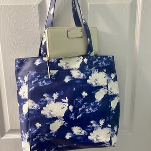 Kate Spade leather cloud tote and wallet NWOT